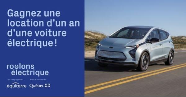 Concours Gagnez une location d'un an d'une Chevrolet Bolt EV 2022!