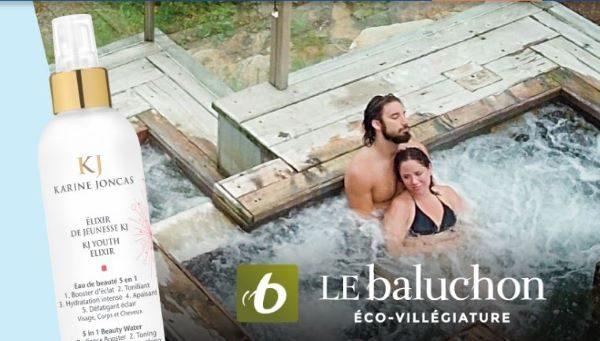 Concours Gagnez un séjour bien-être au Baluchon pour 2 personnes ainsi qu'un panier de soins Karine Joncas!