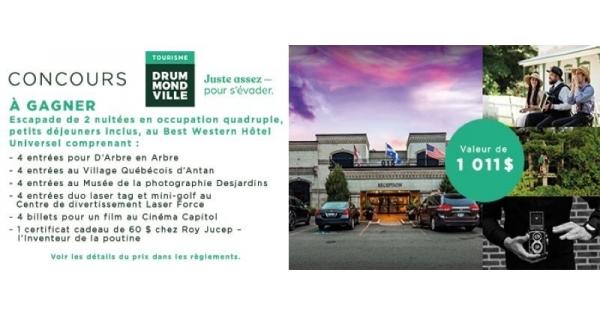 Concours Partez à l'Aventure à Drummondville!