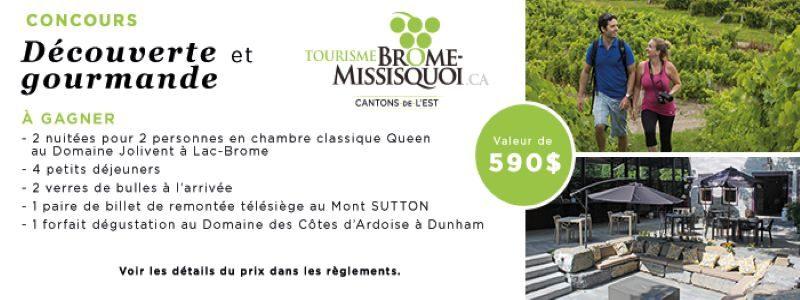 Concours Gagnez un forfait en chambre classique Queen au Domaine Jolivent à Lac-Brome!