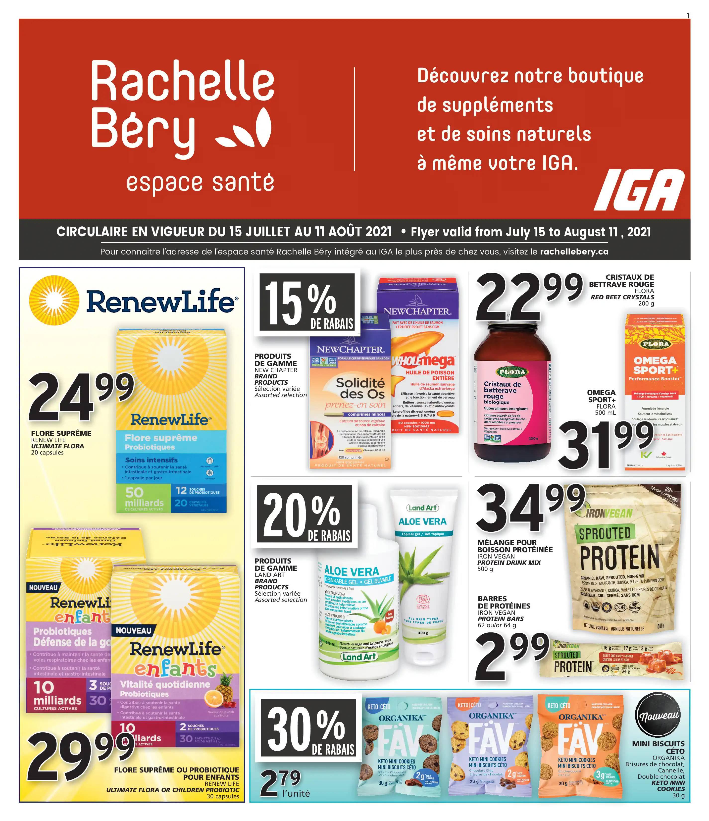 Circulaire Rachelle-Bery - Espace Santé du 15 Juillet au 11 Août 2021 - Page 1