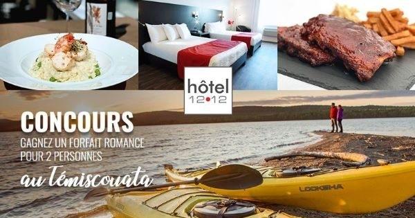 Concours Gagnez un FORFAIT ROMANCE  POUR 2 à l'Hôtel 1212 de Dégelis, dans la magnifique région du Témiscouata!