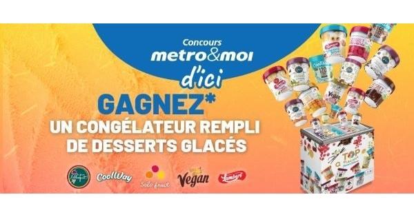 Concours Gagnez 1 des 12 congélateurs remplis de desserts glacés!