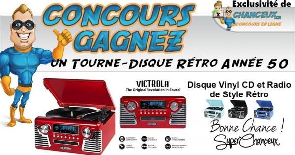 Concours Tourne-Disque Style Rétro Année 50