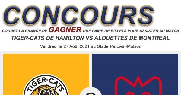 Concours 2 Billets Alouettes de Montréal
