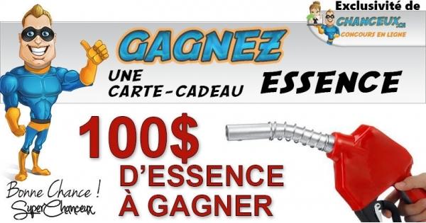 Concours 100$ en Essence à Gagner