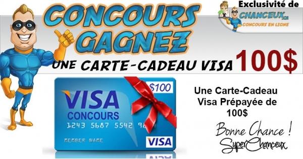 Concours Carte-Cadeau Visa de 100$