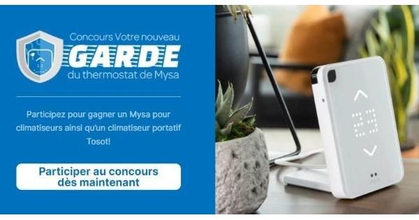 Concours Gagnez un Climatiseur portatif Tosot et un Mysa pour climatiseur!