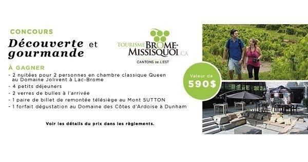 Concours Gagnez une escapade en amoureux à Lac-Brôme!