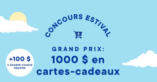 Concours Gagnez jusqu'à 1000 $ en cartes-cadeaux à dépenser dans des commerces québécois!
