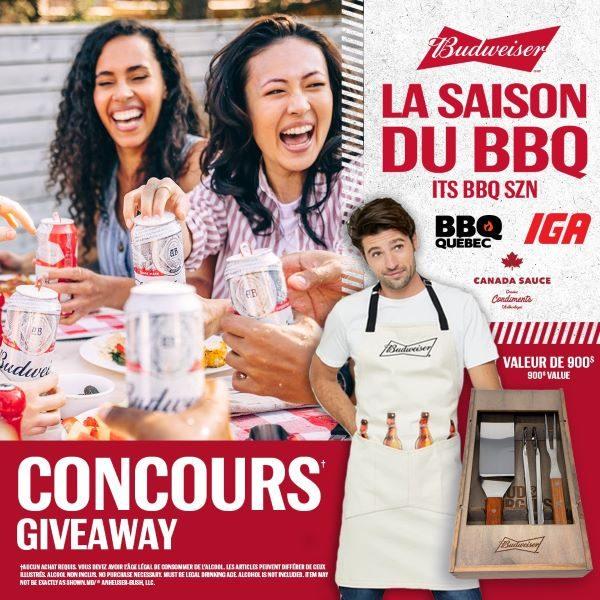 Concours Gagnez l'ensemble Bouffe BBQ de Budweiser Qc!