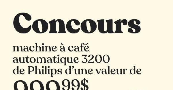 Concours Gagnez une machine à café automatique 3200 de Philips d'une valeur de 999.99$!