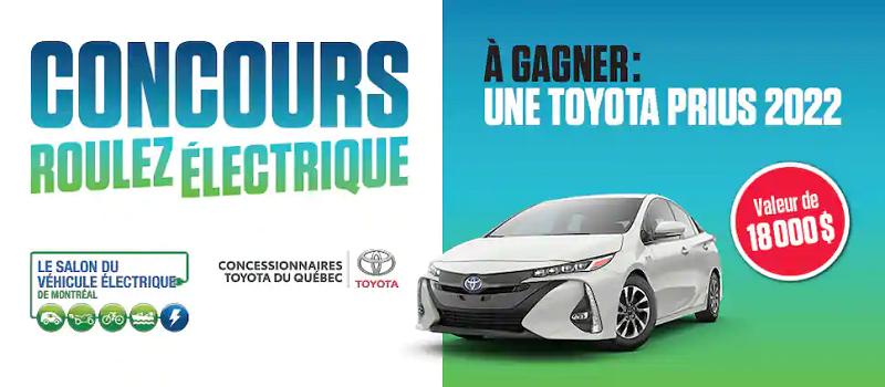 Concours Roulez électrique avec la toute nouvelle Toyota Prius 2022!