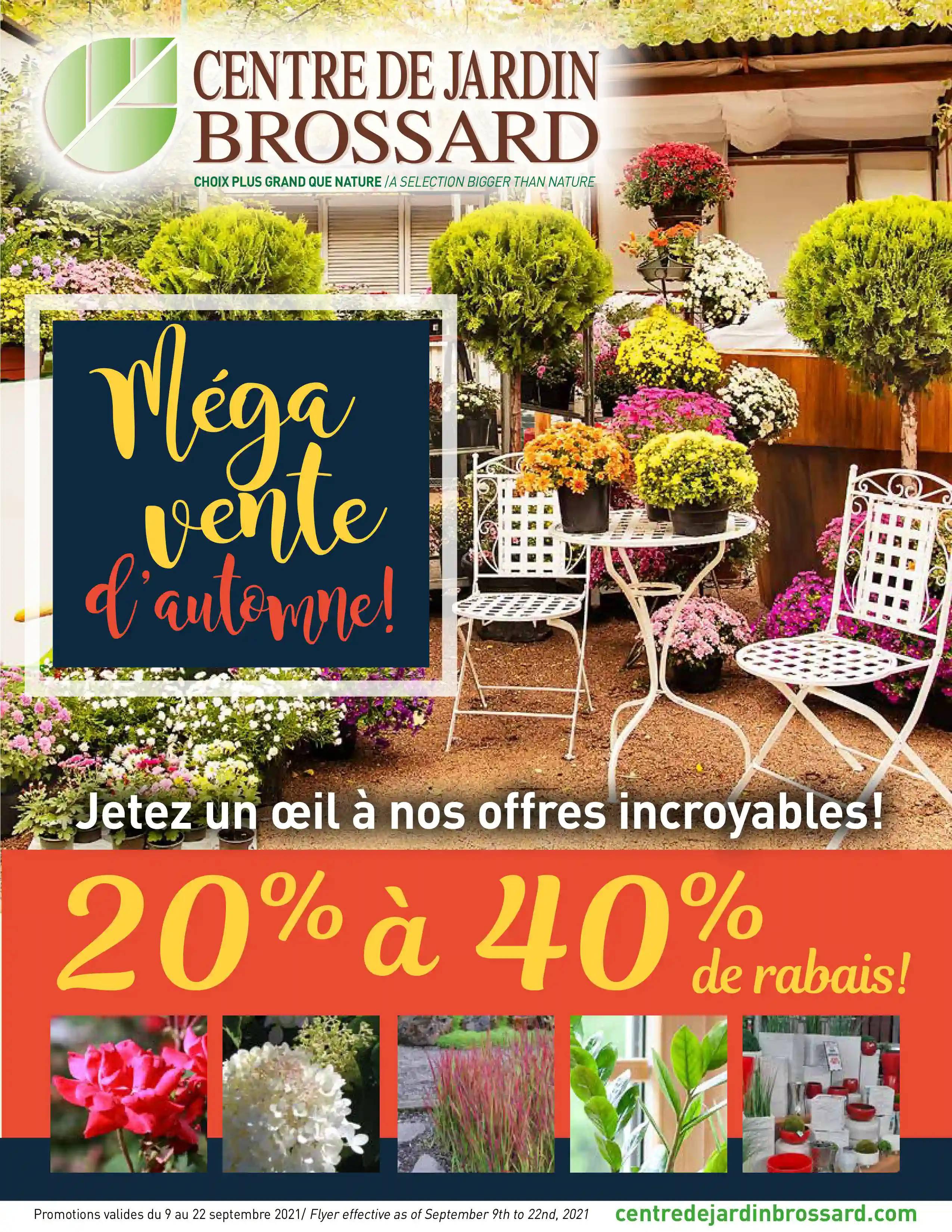 Circulaire Centre de Jardin Brossard du  9 au 22 septembre 2021 - Page 1