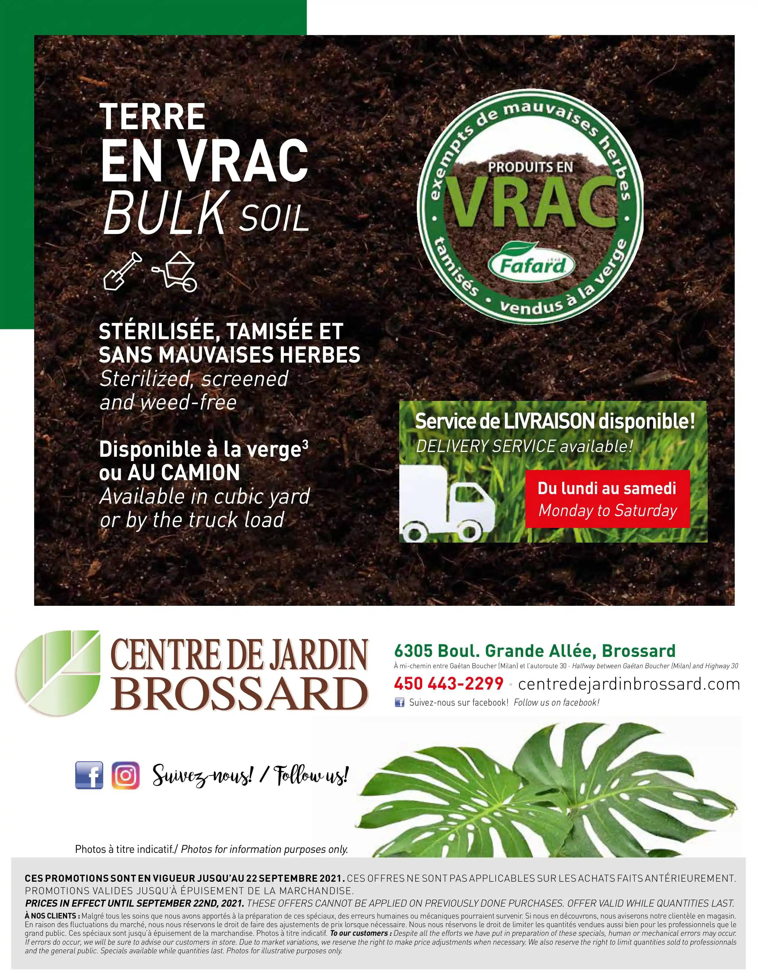 Circulaire Centre de Jardin Brossard du  9 au 22 septembre 2021 - Page 8