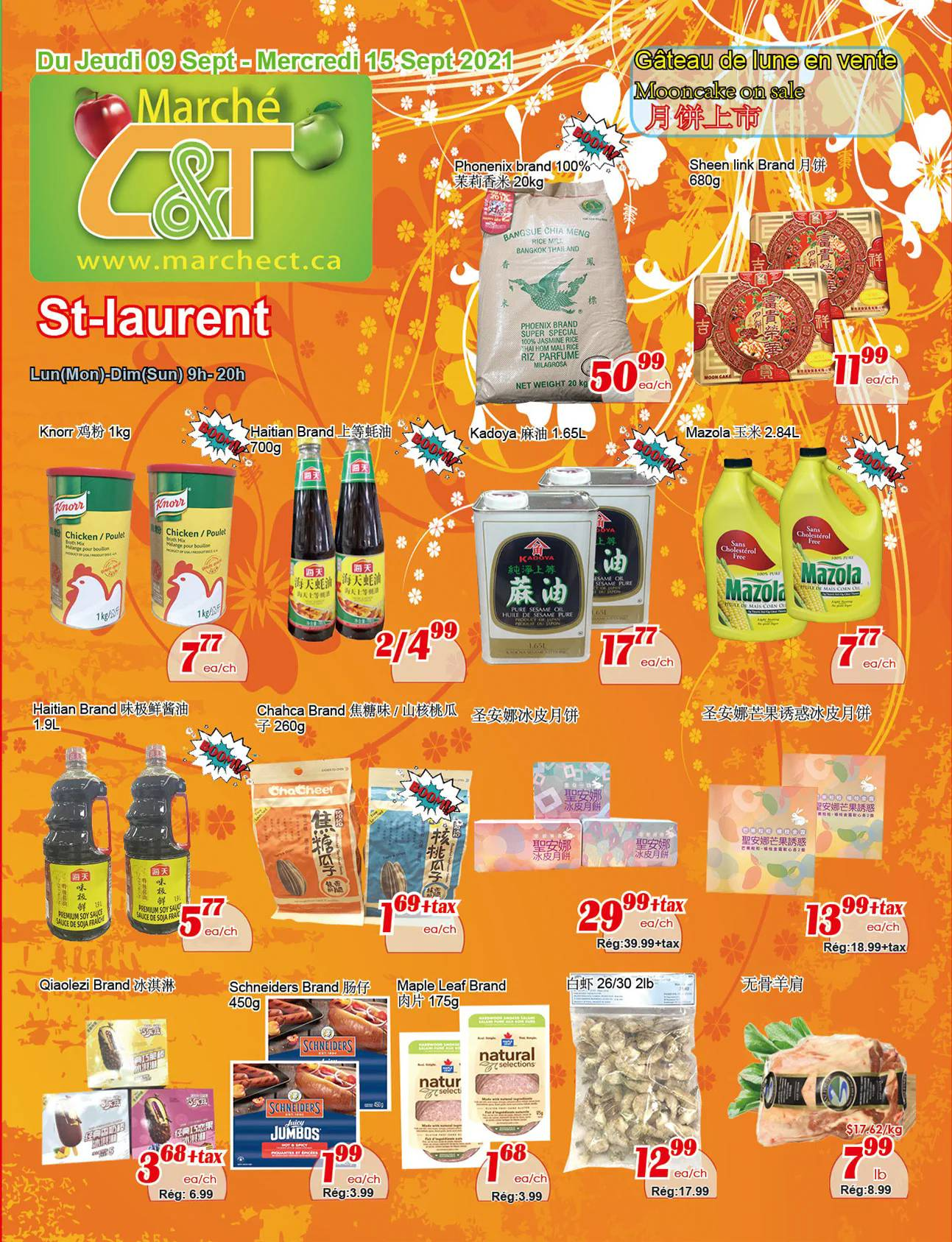 Circulaire Marché C & T - St-Laurent du 9 au 15 Septembre 2021 - Page 1