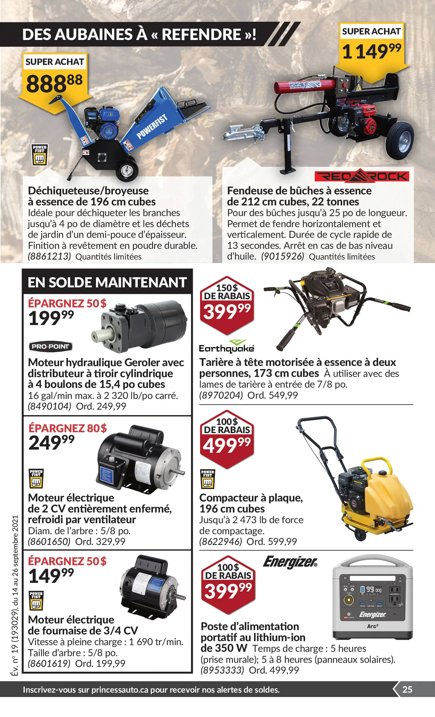 Circulaire Princess Auto du 14 au 26 septembre 2021 - Page 29