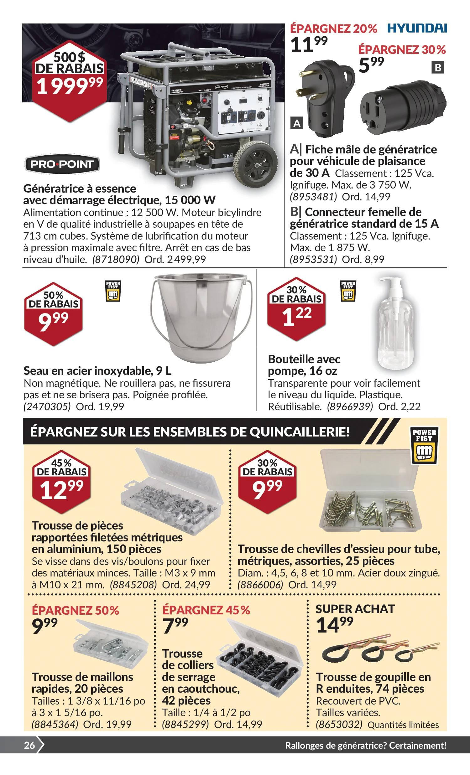 Circulaire Princess Auto du 14 au 26 septembre 2021 - Page 30