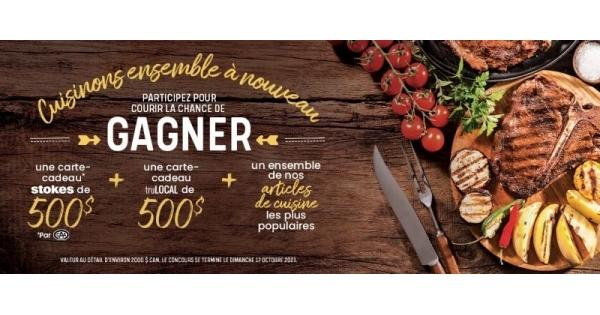 Concours Cuisinons Ensemble à Nouveau avec Stokes, CAA et TruLocal!