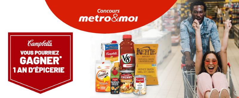 Concours Gagnez 1 An d'Épicerie en Cartes-cadeaux Métro d'une Valeur de 14 000$!