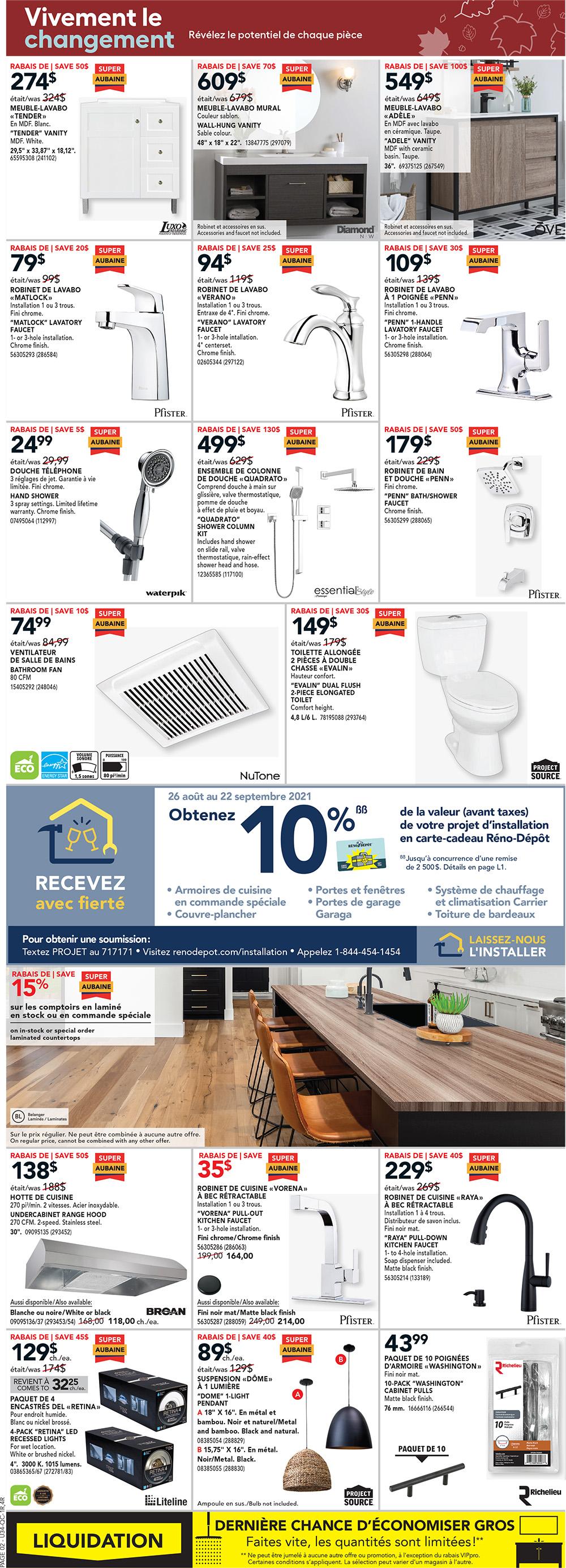 Circulaire Réno-Depot du 16 au 22 Septembre 2021 - Page 3