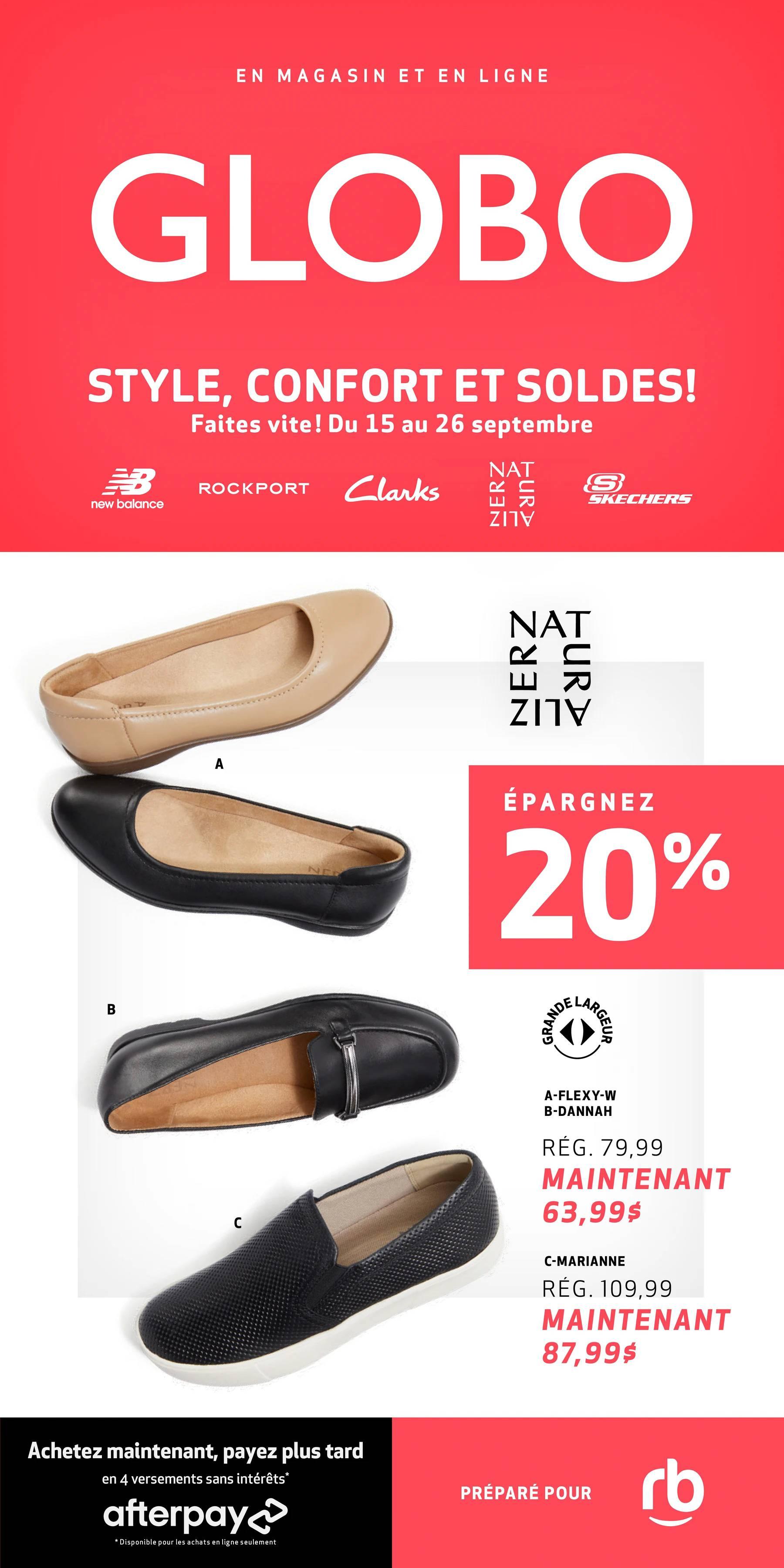 Circulaire Chaussures GLOBO du 15 au 26 Septembre 2021 - Page 1