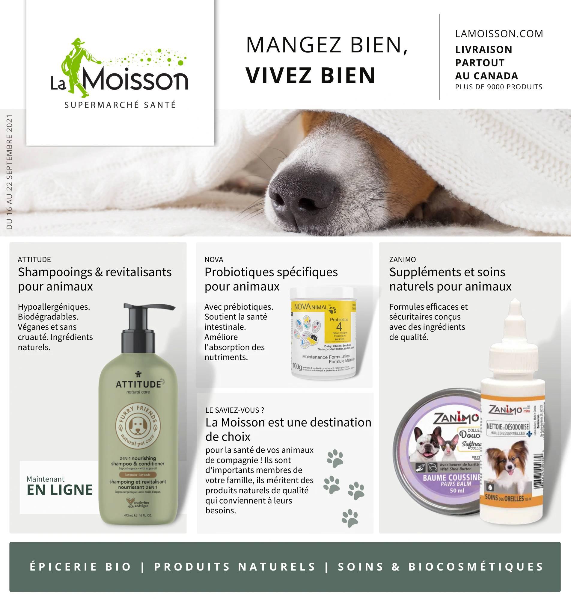 Circulaire La Moisson Supermarché Santé du 16 au 22 Septembre 2021 - Page 1