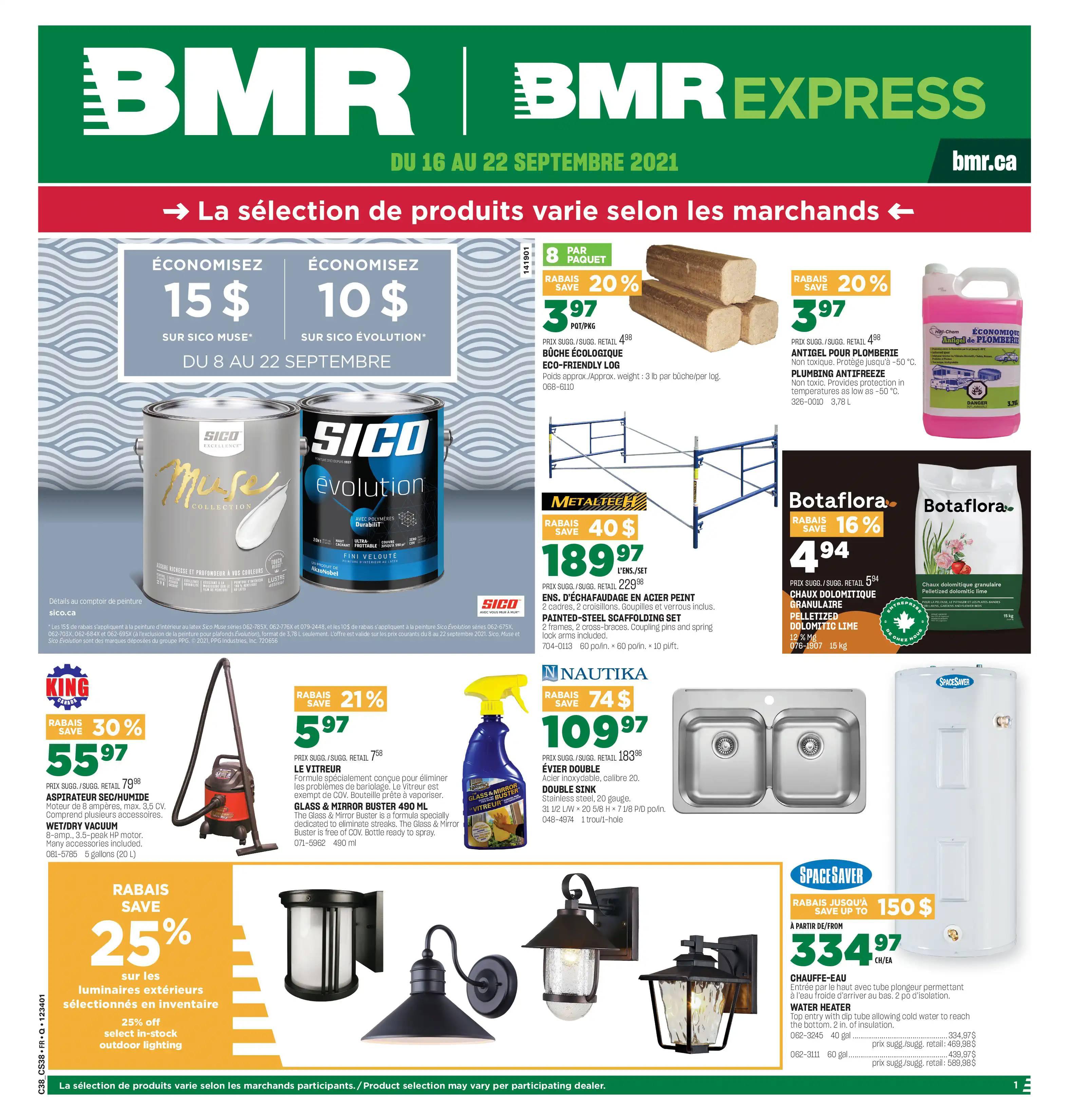 Circulaire BMR du 16 au 22 septembre 2021 - Page 1