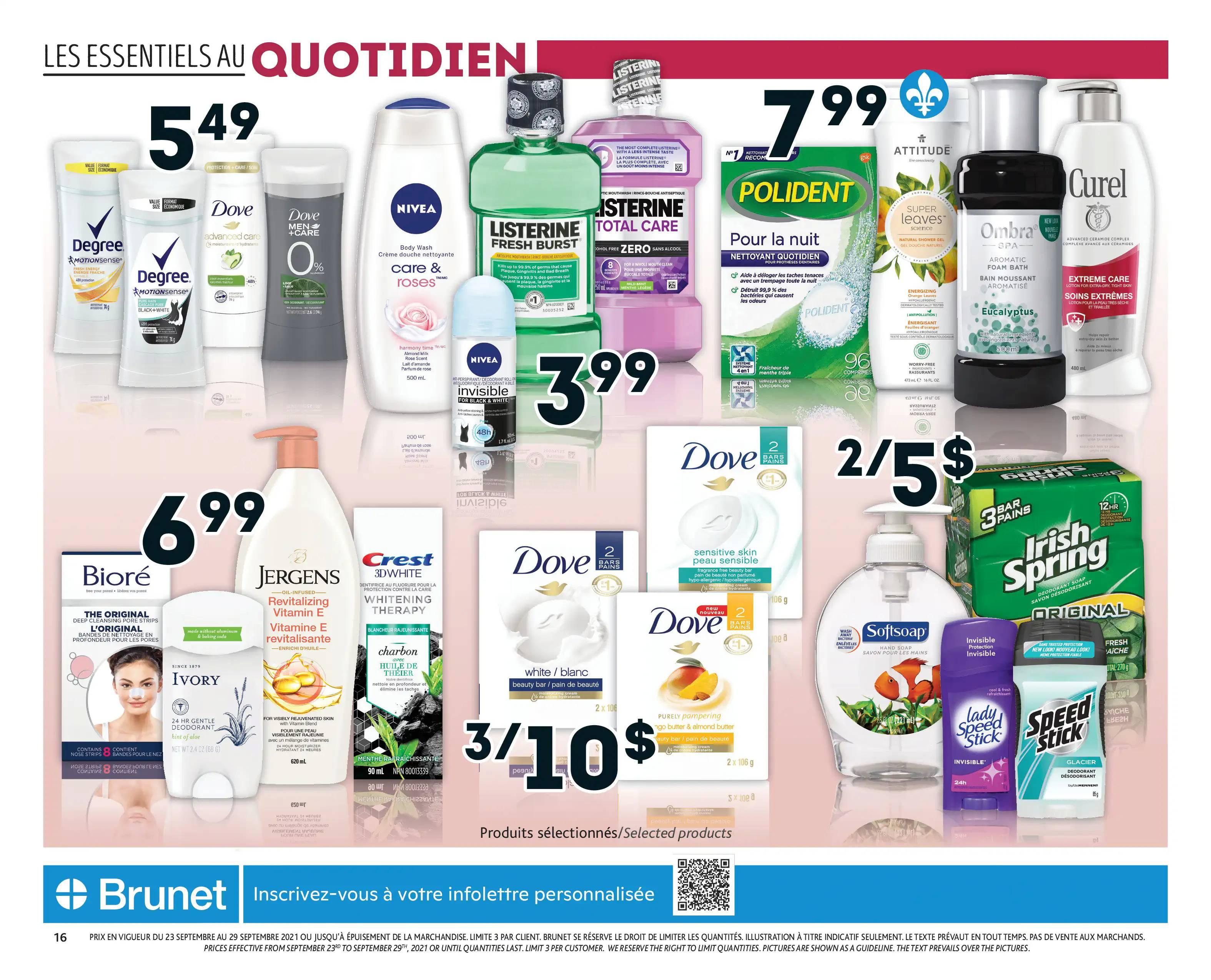 Circulaire Brunet - Pharmacie du 23 au 29 Septembre 2021 - Page 16