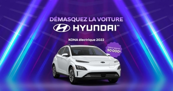 Concours Gagnez le Nouveau KONA Électrique 2022 d'une Valeur de 50 000$!