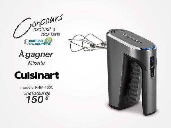 Concours Gagnez une Mixette de la Marque Cuisinart d'une valeur de 150$!