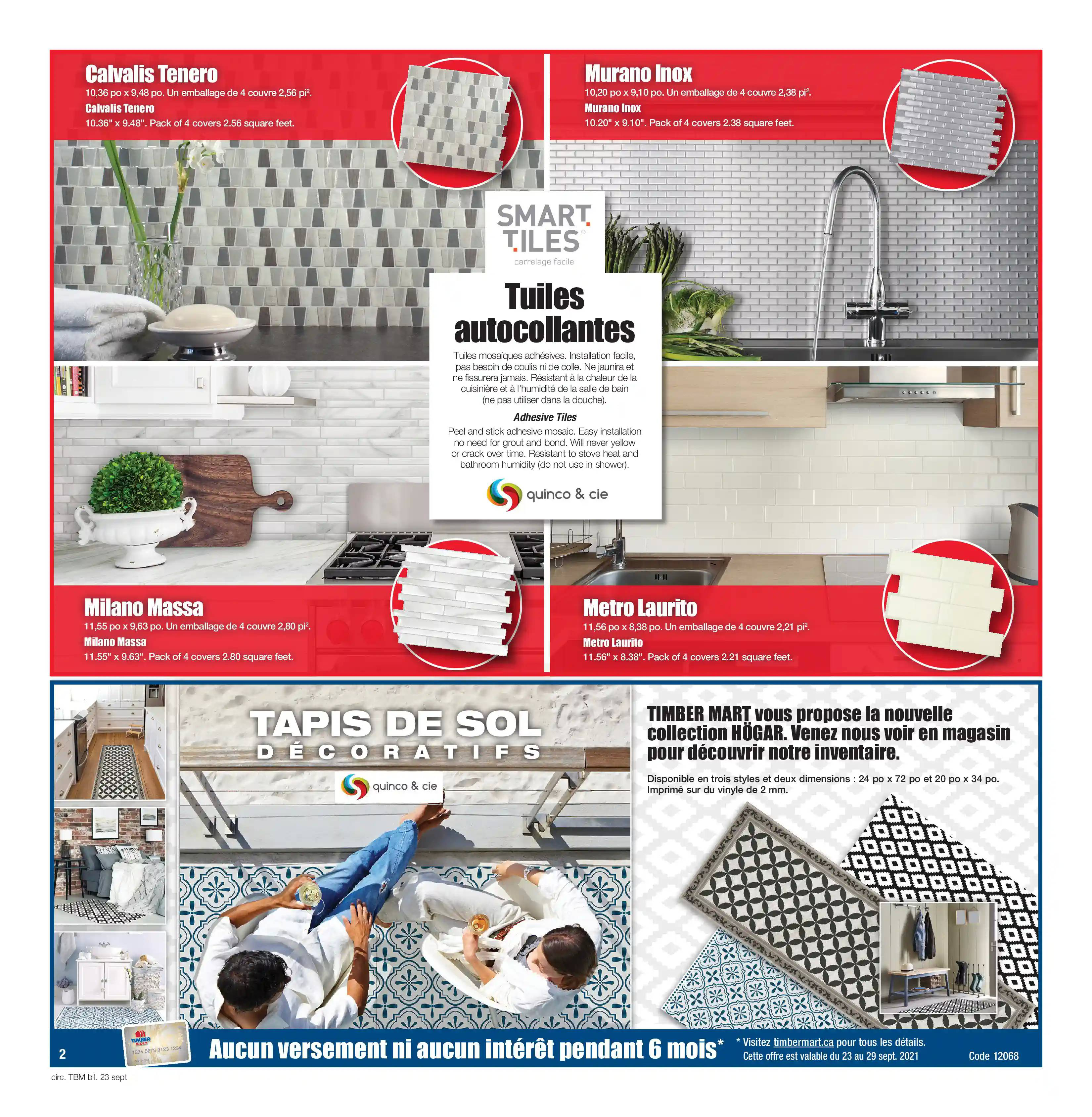 Circulaire Timber Mart du 23 au 29 septembre 2021 - Page 2