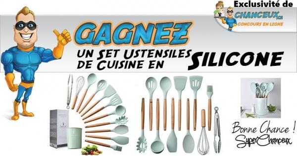 Concours Gagnez un Set Ustensiles de Cuisine en Silicone
