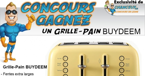 Concours Grille-Pain BUYDEEM Style Rétro