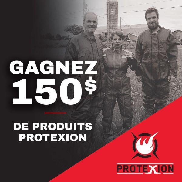 Concours Gagnez l'un des 4 Lots d'une Valeur de 150$ de Produits Protexion de votre Choix!