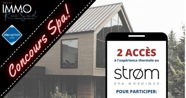 Concours Gagnez 2 Accès au Strøm Spa Nordique - Mont-Saint-Hilaire!
