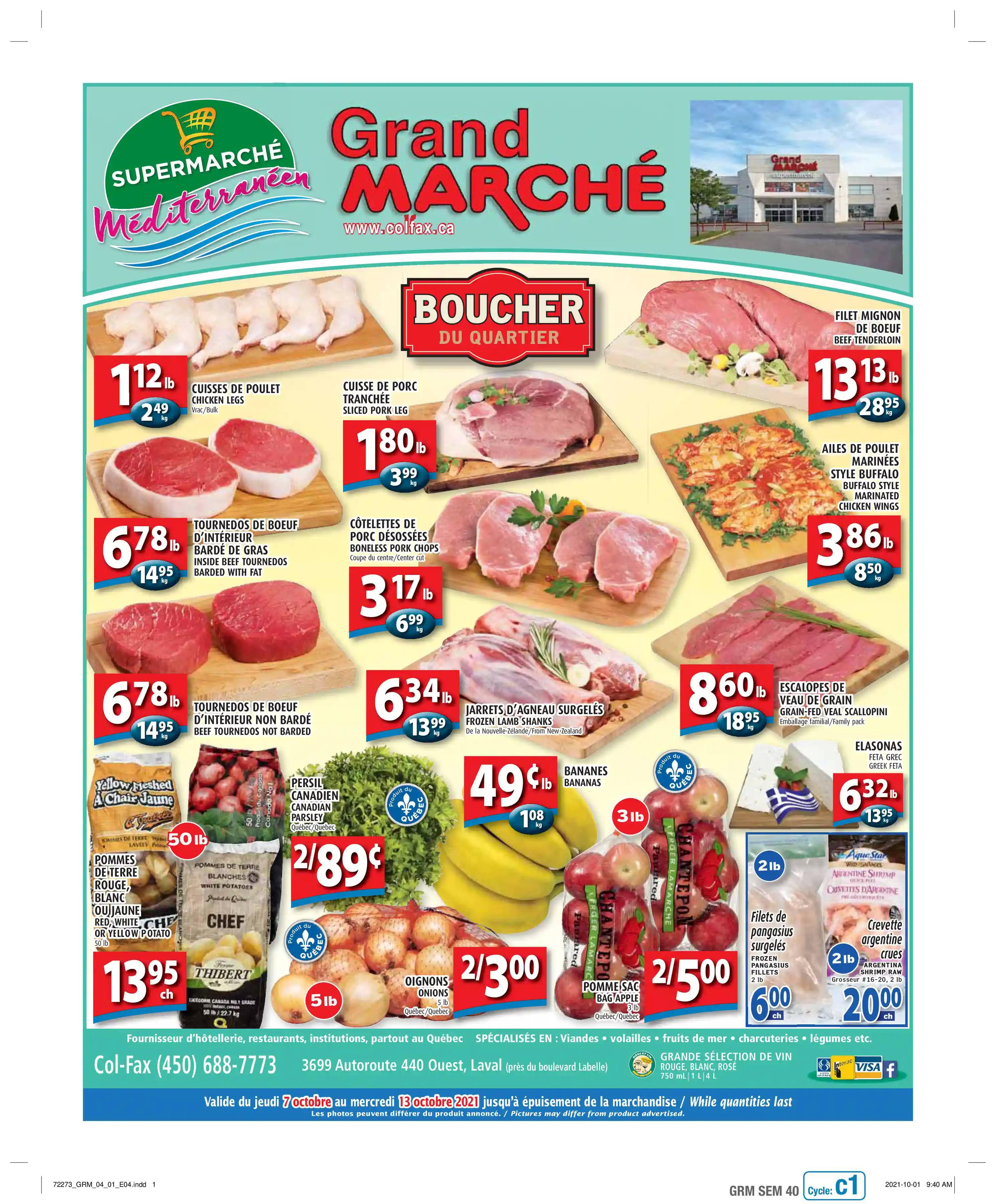 Circulaire Grand Marché Laval du  7 au 13 octobre 2021 - Page 1