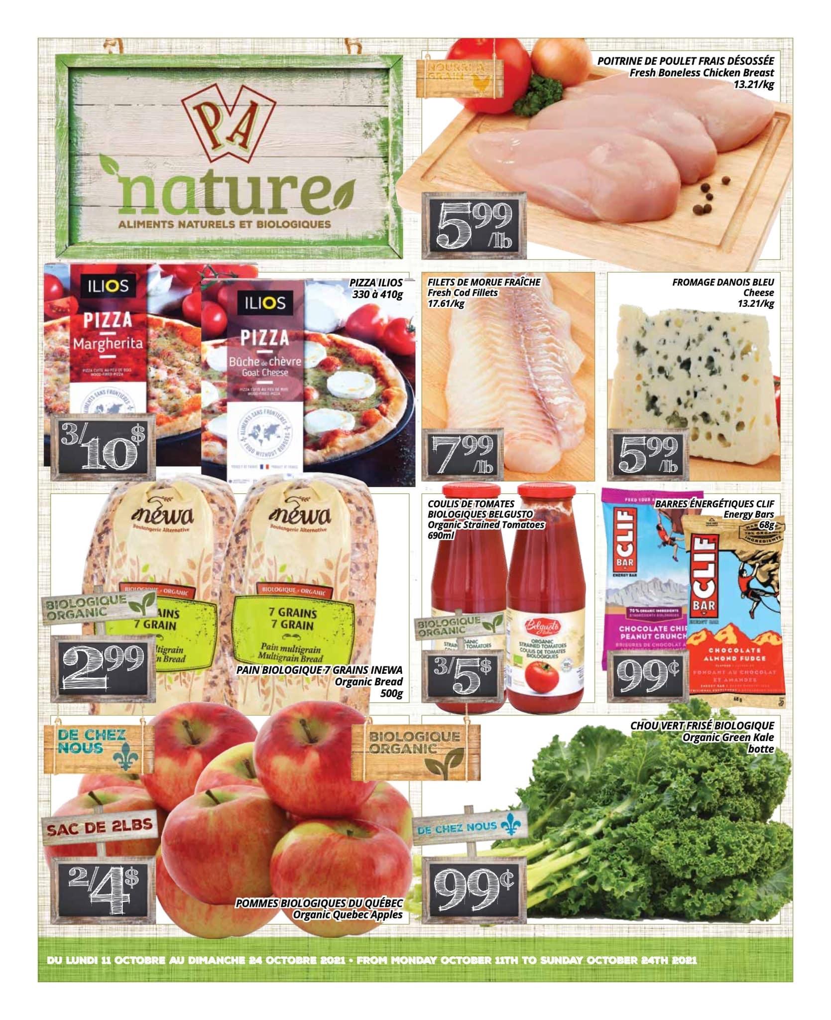 Circulaire PA Nature - Aliments Naturels et Biologiques du 11 au 24 octobre 2021 - Page 1