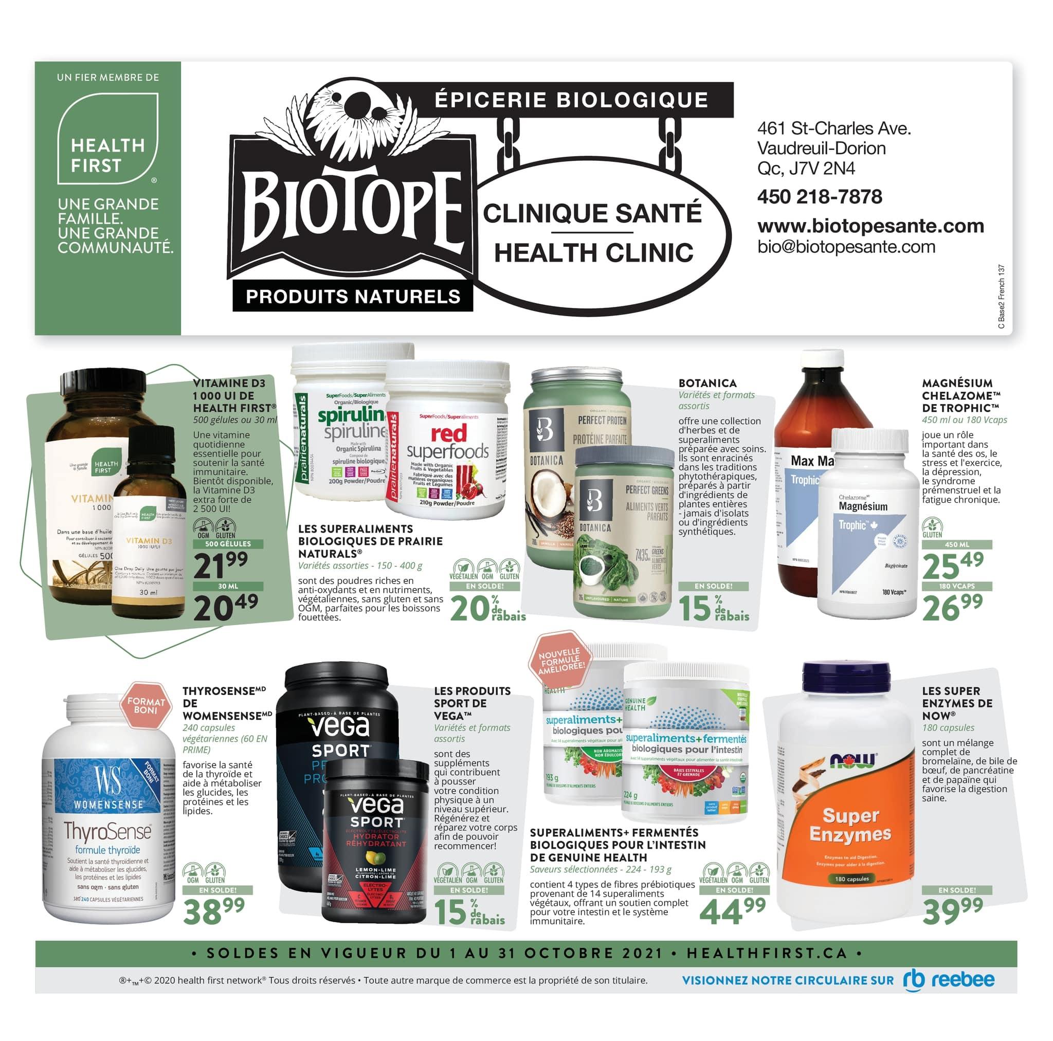 Circulaire Biotope du  1 au 31 octobre 2021 - Page 1