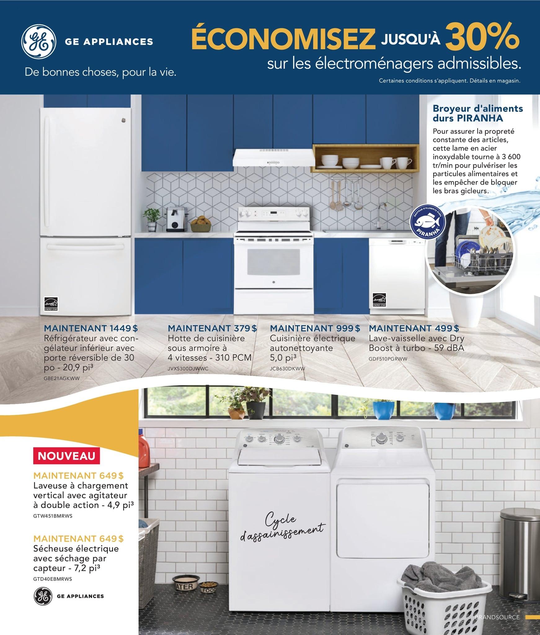Circulaire Ameublement BrandSource Poulin du  1 au 18 octobre 2021 - Page 14