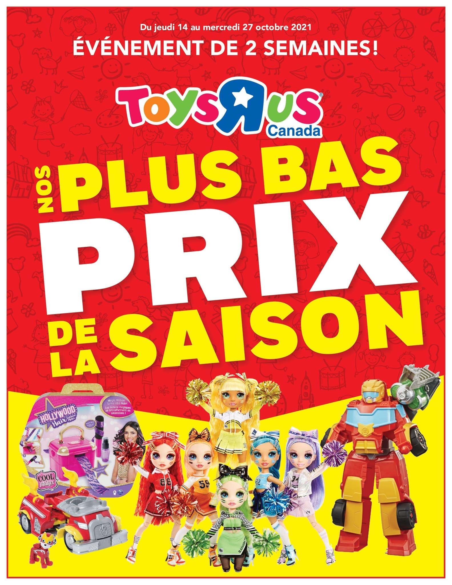 Circulaire Toys 'R' us du 14 au 27 octobre 2021 - Page 1