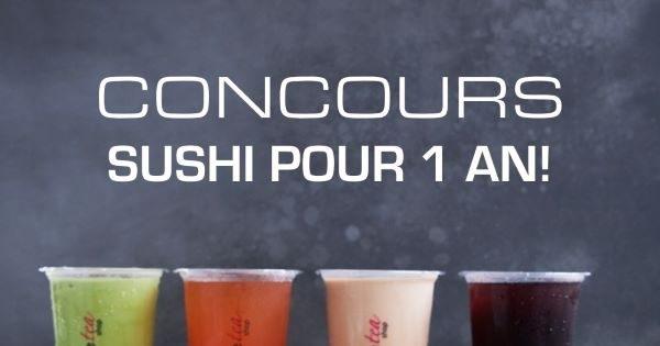 Concours GAGNEZ 1 AN DE SUSHIS GRATUITS!