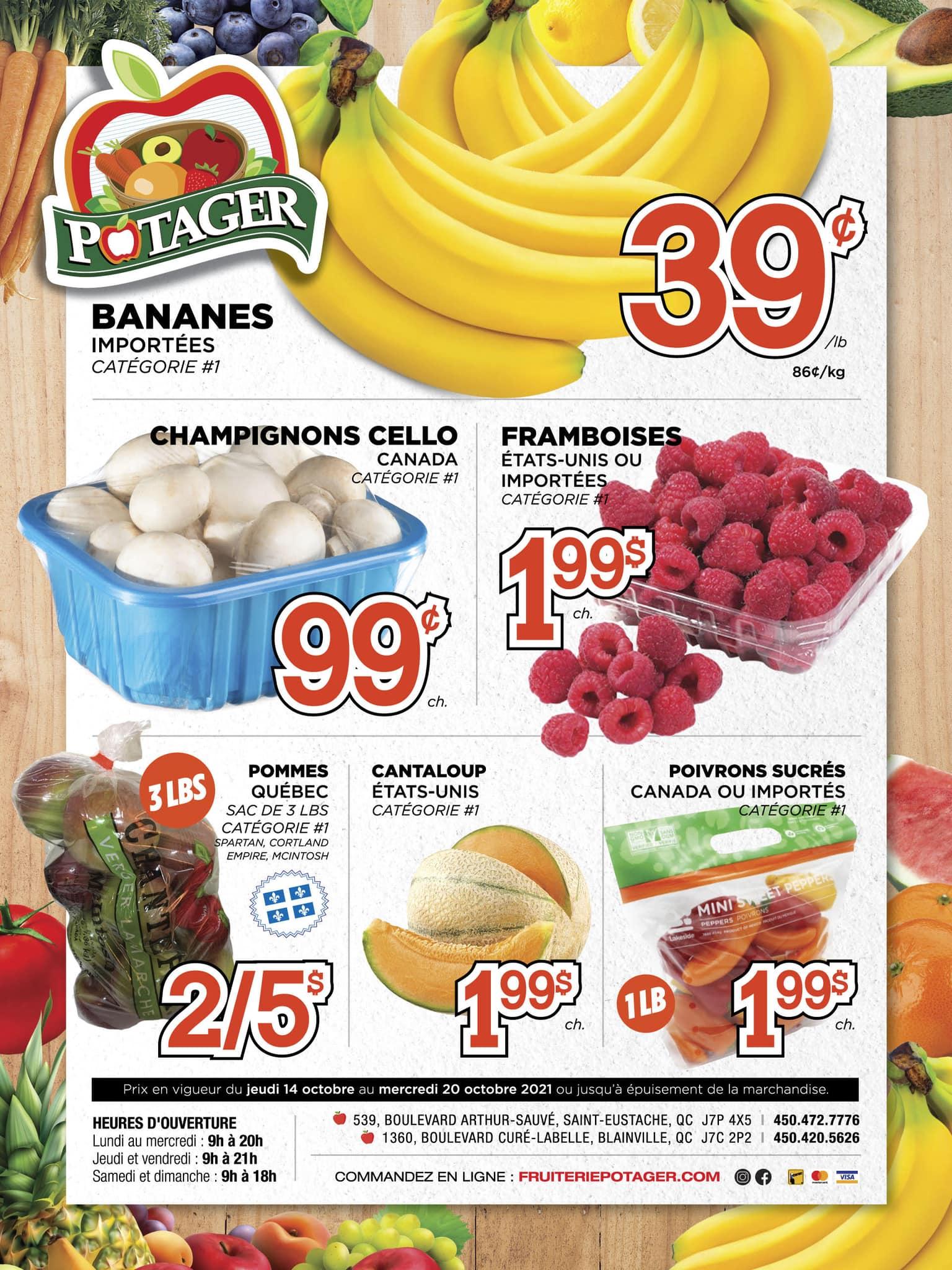 Circulaire Fruiterie Potager Saint-Eustache / Blainville du 14 au 20 octobre 2021 - Page 1
