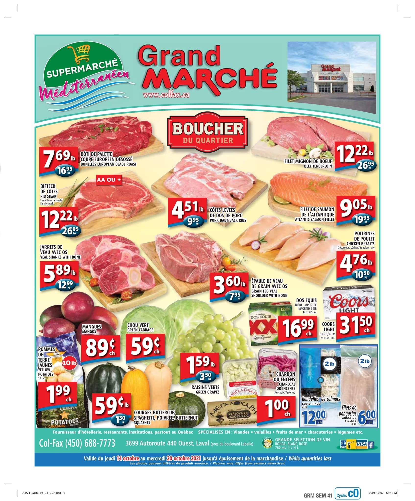 Circulaire Grand Marché Laval du 14 au 20 octobre 2021 - Page 1
