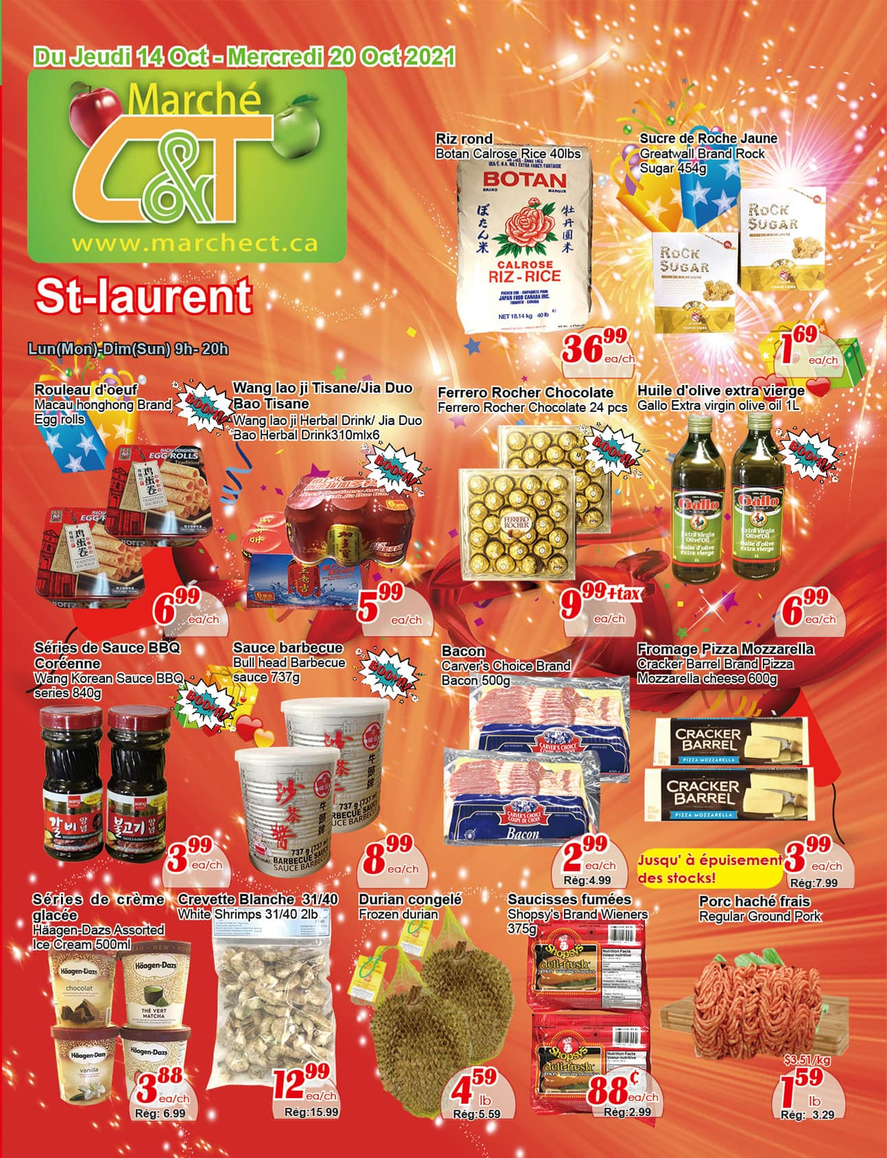Circulaire Marché C & T St-Laurent du 14 au 20 octobre 2021 - Page 1