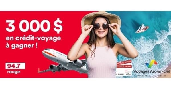 Concours Gagnez un Crédit-voyage de 3000$!