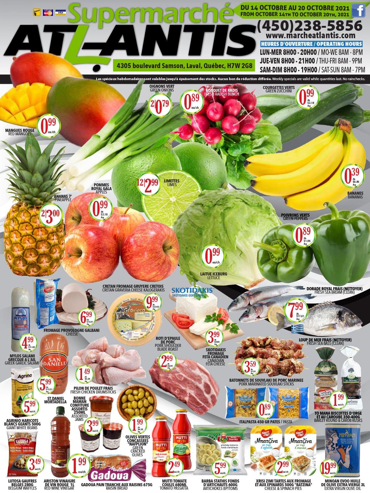 Circulaire Supermarché Atlantis du 14 au 20 octobre 2021 - Page 1