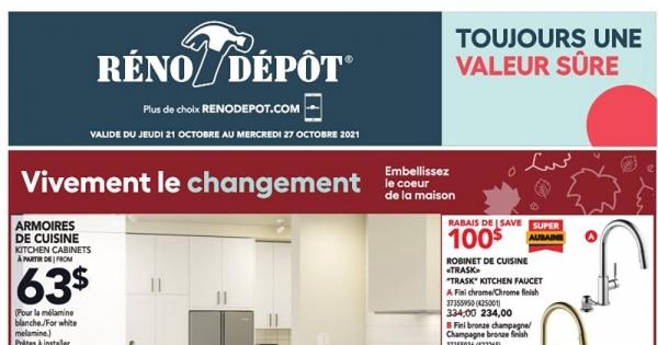 Image de la Promotion Circulaire Reno-depot du 21 au 27 octobre 2021