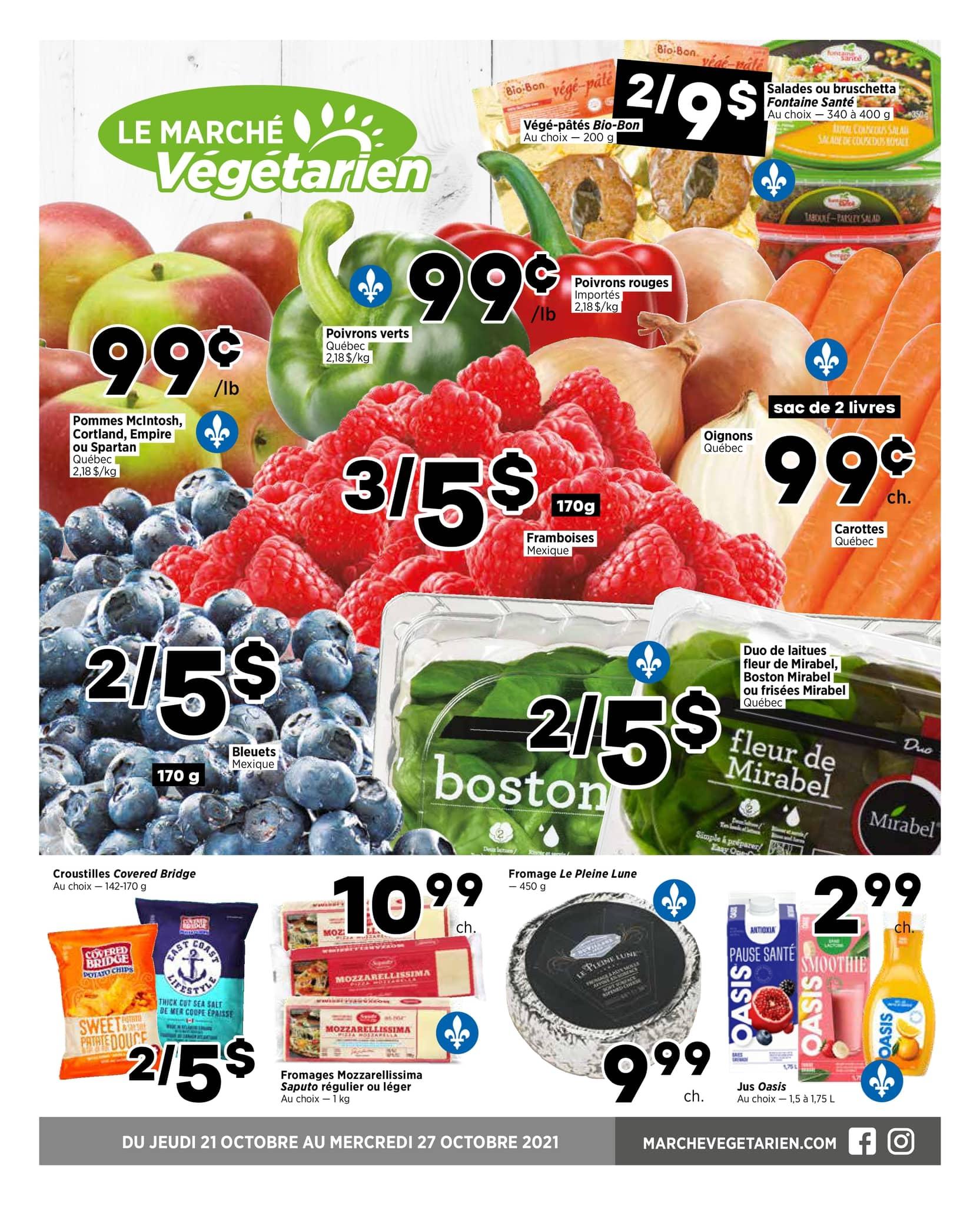 Circulaire Marché Végétarien du 20 au 27 octobre 2021 - Page 1