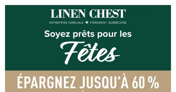 Image de la Promotion Circulaire Linen Chest du 20 Octobre au 9 Novembre 2021